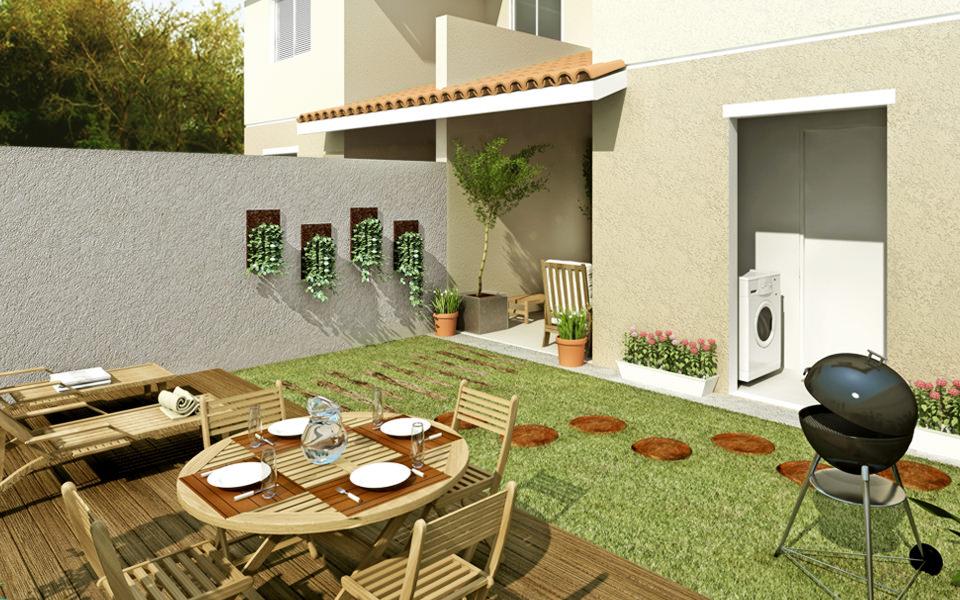 Decora o de quintal simples e pequeno fotos decorando casas for Jardines pequenos simples
