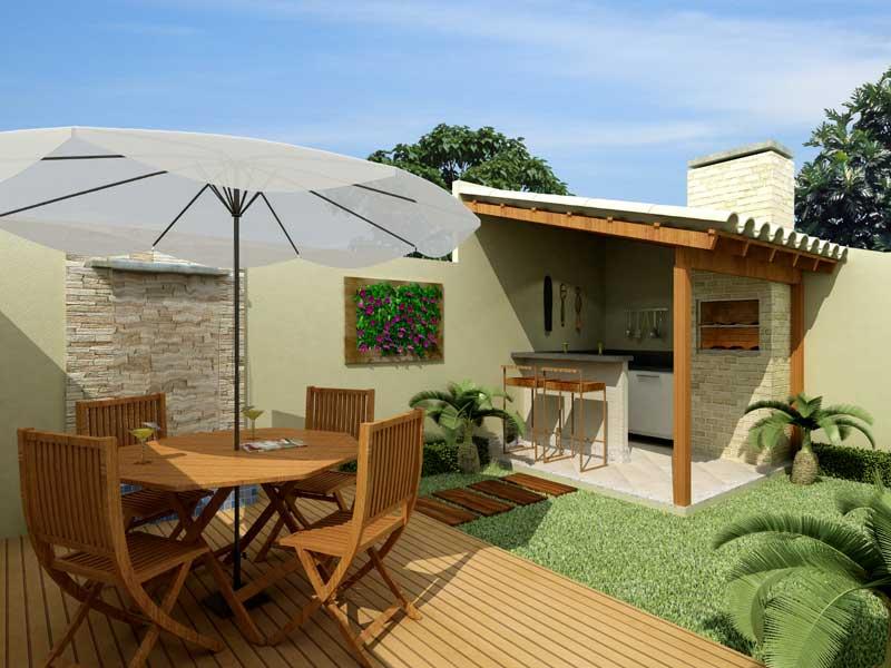 ideias baratas jardins:Decoração de quintal simples e pequeno fotos