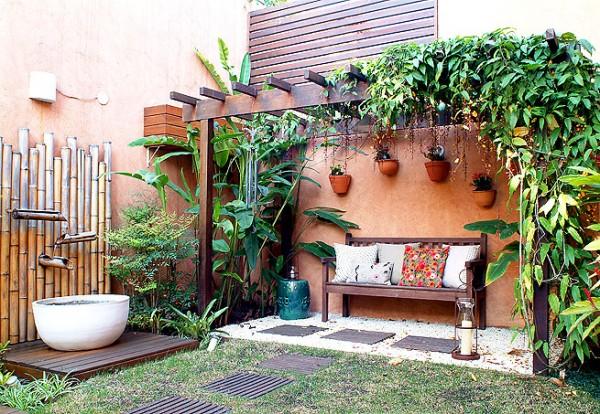 ideias jardins grandes:Decoração de quintal simples e pequeno fotos