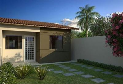 Fotos de fachadas de casas simples pequenas e baratas for Casa moderna 90m2