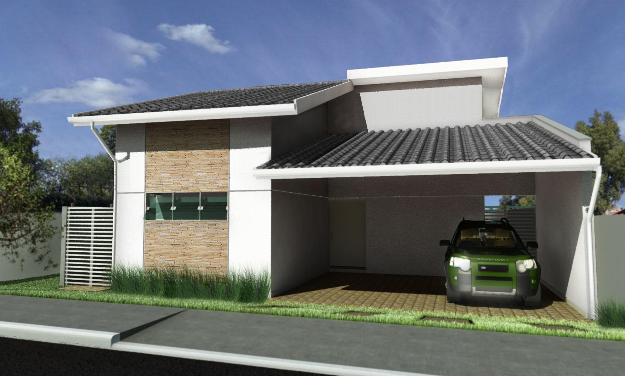 Fotos de fachadas de casas simples pequenas e baratas for Casas minimalistas baratas