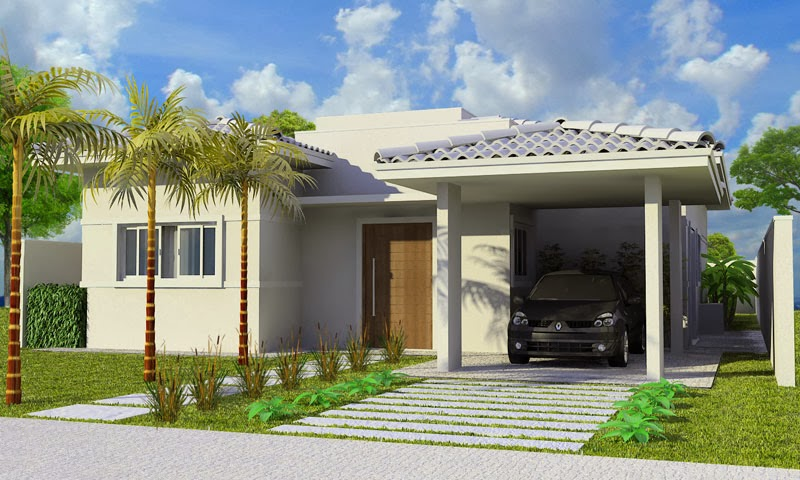 Fotos de fachadas de casas simples pequenas e baratas for Modelos de fachadas modernas