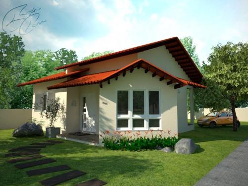 Fotos de fachadas de casas simples pequenas e baratas for Casas pequenas con fachadas bonitas