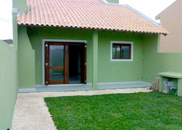 Fotos de fachadas de casas simples pequenas e baratas for Jardines para frentes de casas pequenas