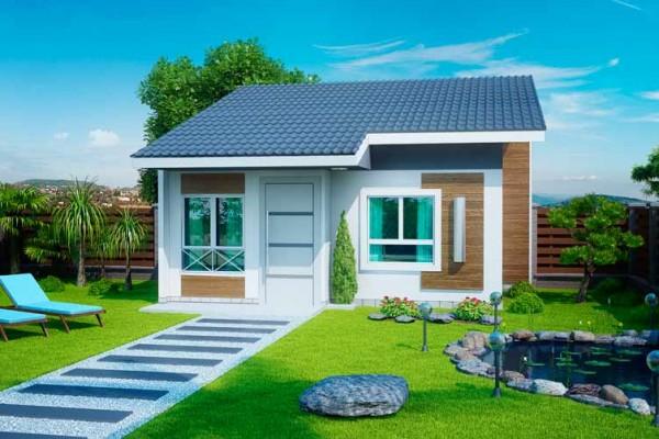 Fotos de fachadas de casas simples pequenas e baratas for Modelos de casas minimalistas pequenas