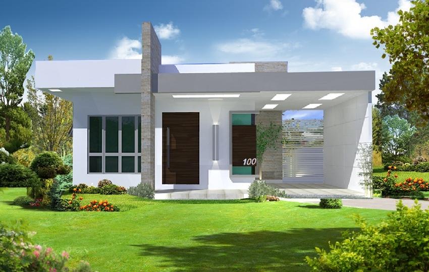Fotos de fachadas de casas simples pequenas e baratas for Casa moderna 1 piso