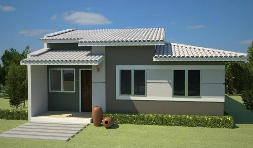 Fotos de fachadas de casas simples pequenas e baratas for Casa moderna por fuera