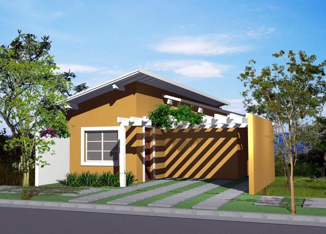 Fotos de fachadas de casas simples pequenas e baratas for Fachadas de viviendas pequenas