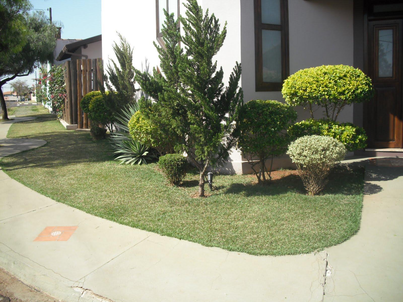 imagens jardins casas : imagens jardins casas:Modelos de jardins residenciais para frente de casa
