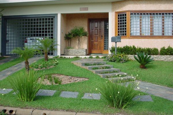 Modelos de jardins residenciais para frente de casa decorando casas for Jardines pequenos para casas pequenas