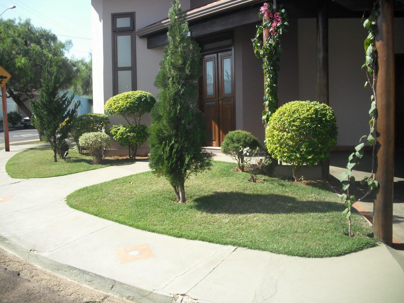 Modelos de jardins residenciais para frente de casa decorando casas - Imagenes de jardines de casa pequenos ...