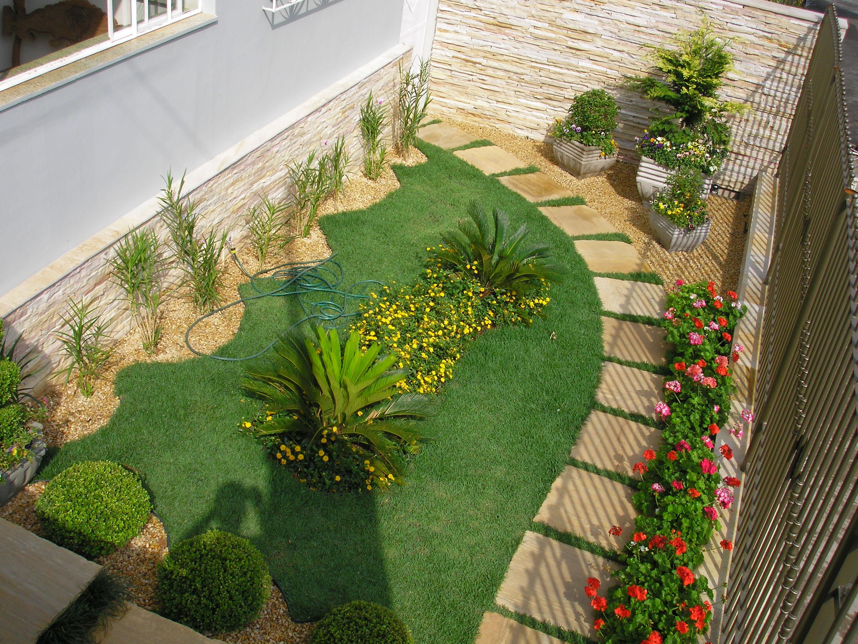 pedras jardins pequenos : pedras jardins pequenos:Modelos de jardins residenciais para frente de casa
