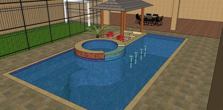 Projetos de piscinas de alvenaria passo a passo for Modelos de bares para piscinas
