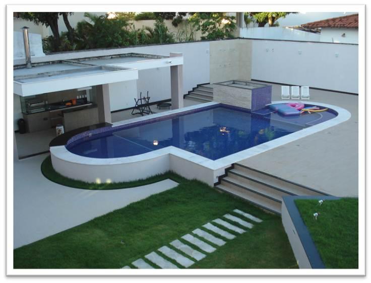 Projetos de piscinas de alvenaria passo a passo - Medidas de piscinas de casas ...