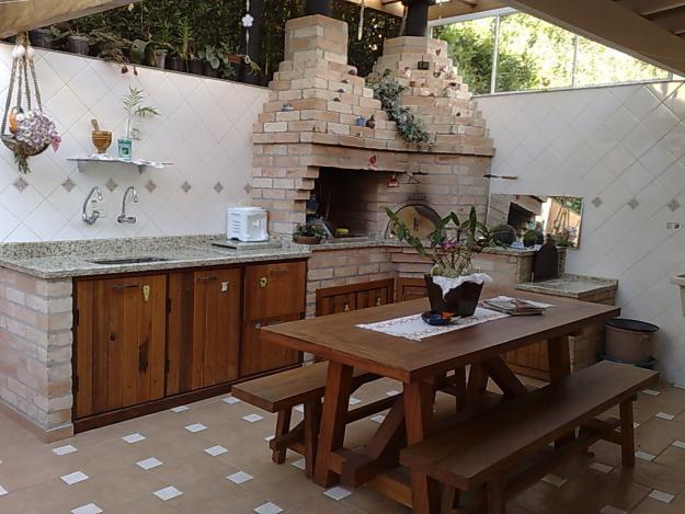Decora o da rea de lazer com churrasqueira decorando casas for Juntas piscina