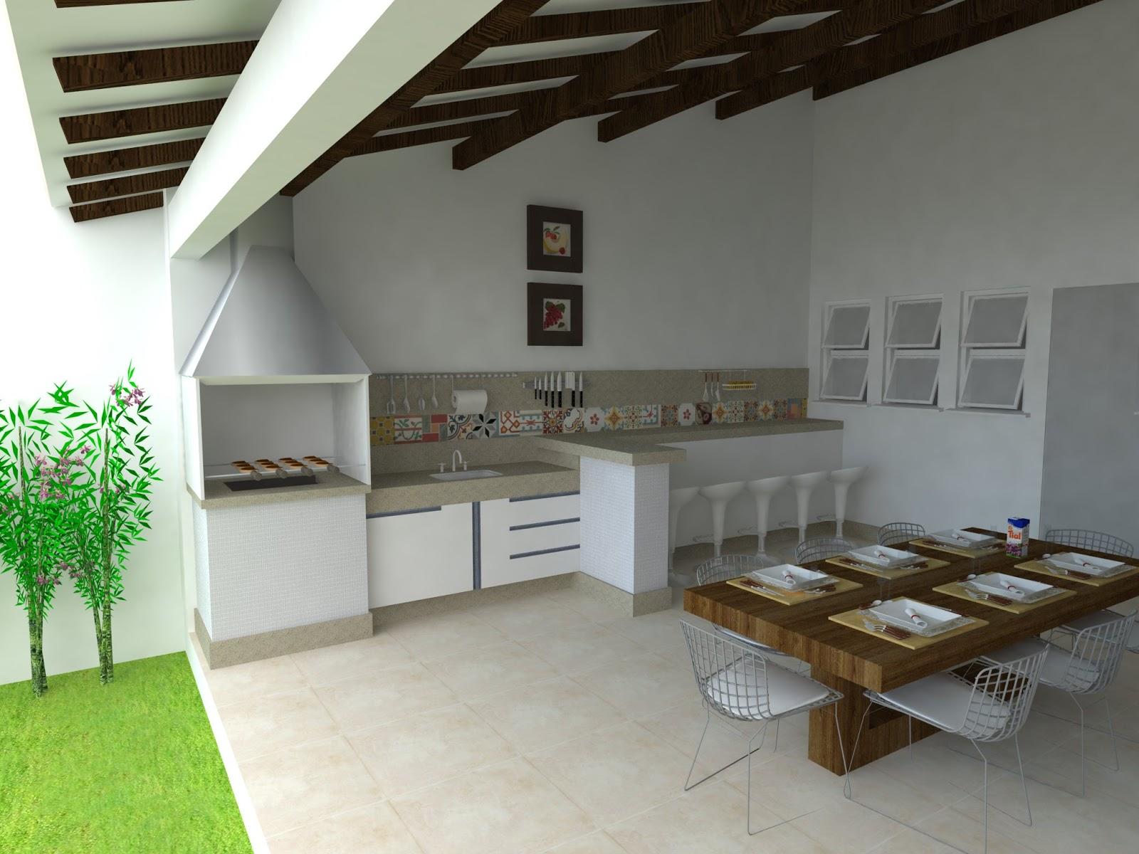 Decoração da área de lazer com churrasqueira Decorando Casas #719A31 1600 1200