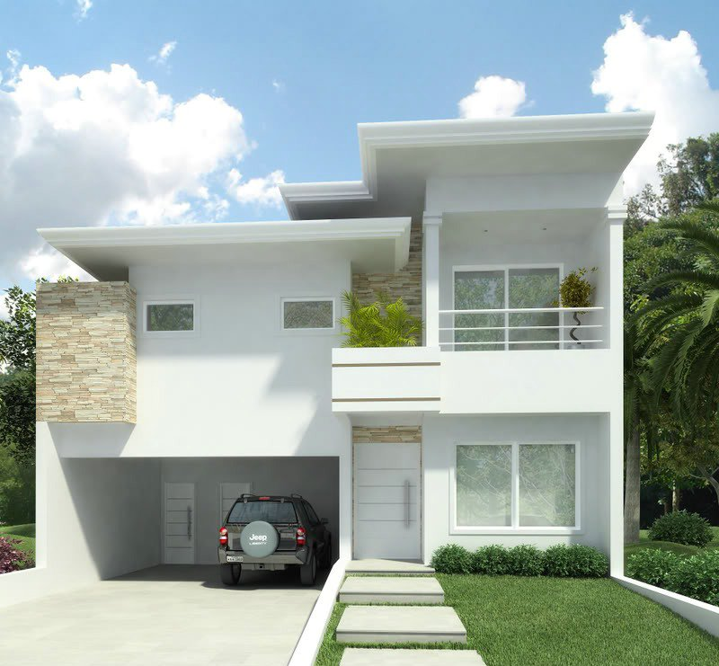 Fachadas de sobrados pequenos e modernos decorando casas for Modelos de residencias modernas