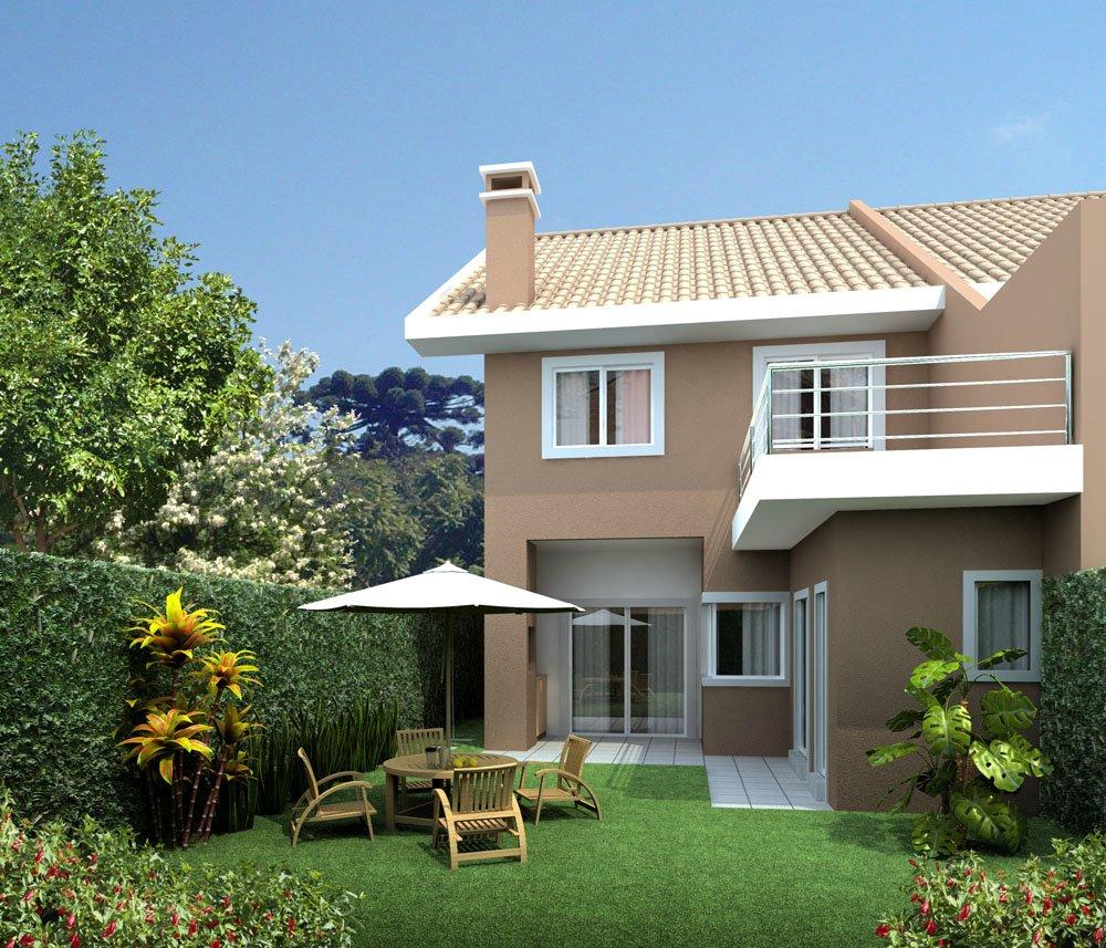 Fachadas de sobrados pequenos e modernos decorando casas - Casa con terreno ...