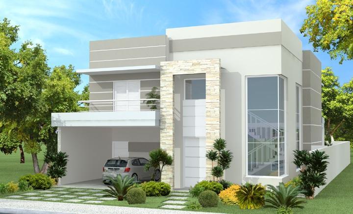 Fachadas de sobrados pequenos e modernos decorando casas for Fachadas de almacenes modernos