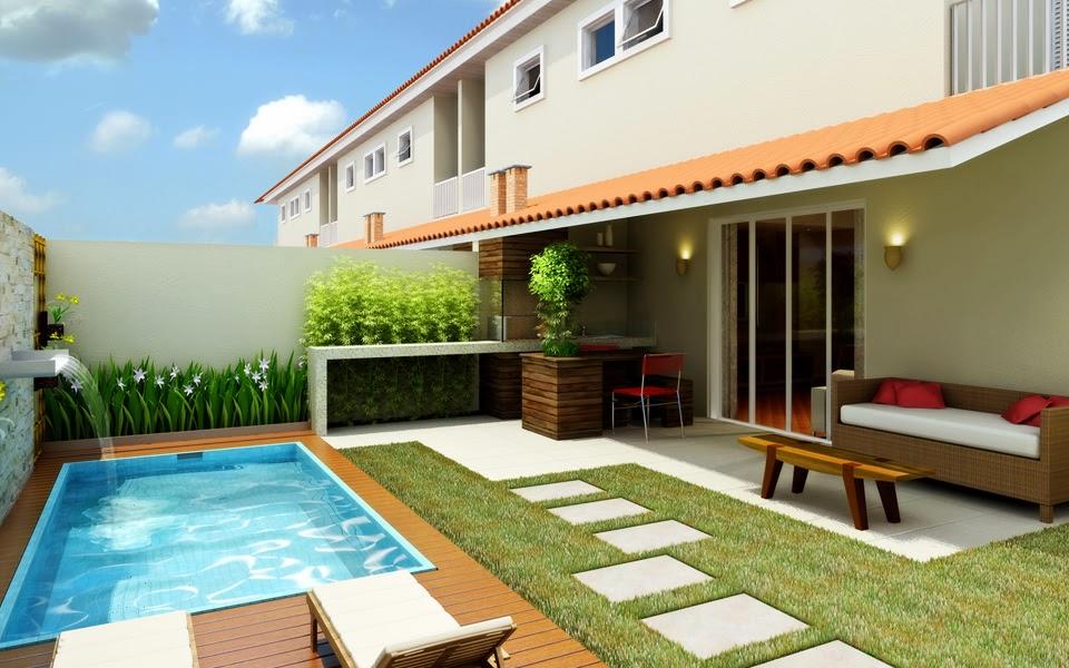 jardim quintal grande:Decoração para quintal pequeno com piscina