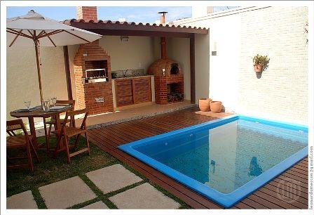 Decora o para quintal pequeno com piscina decorando casas - Piscina pequena plastico ...
