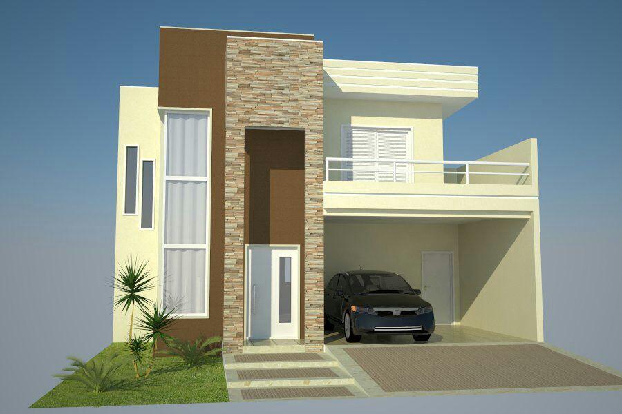 Modelos De Casas Duplex Com Telhado Embutido Garden