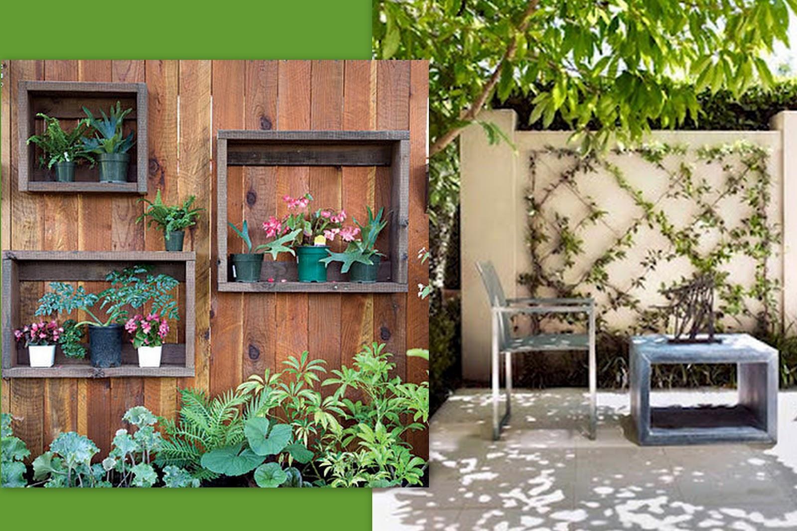 ideias jardins grandes:Como fazer um jardim vertical simples e barato?