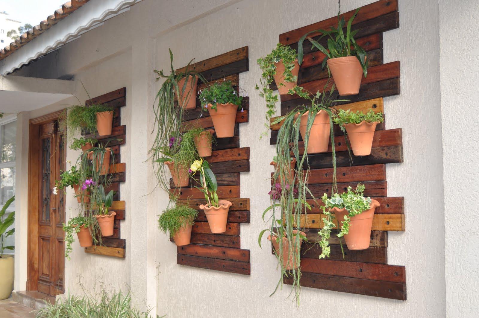 jardim vertical simples:Vertical Wall Garden
