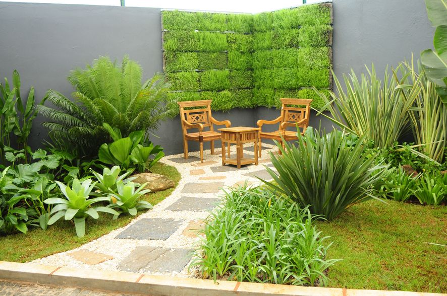 decoracao jardim residencial:Garden Design Ideas with Pebbles