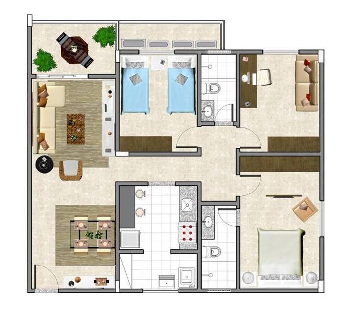 Plantas de casas modernas e econ micas decorando casas for Casas modernas economicas