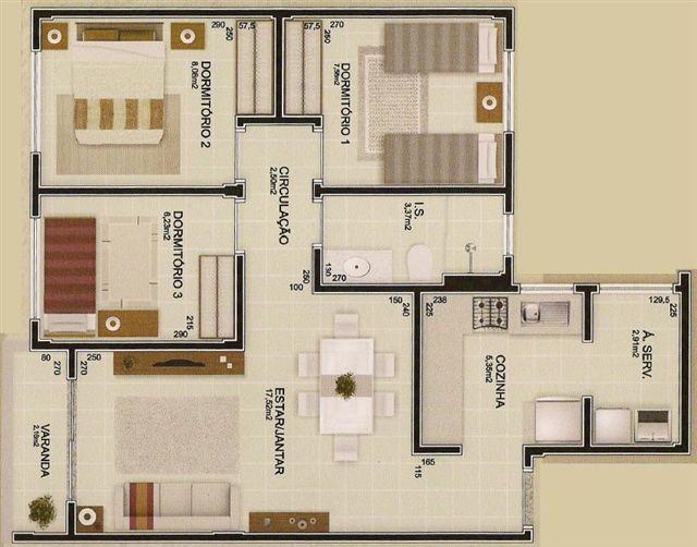 Plantas de casas modernas e econ micas decorando casas for Casa moderna economica