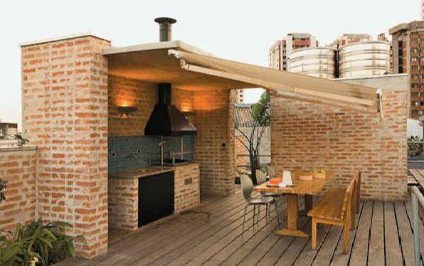 Projetos de churrasqueiras em pequenos espaços Decorando Casas