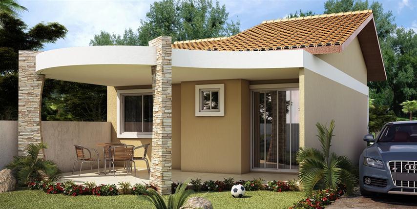 Projetos de casas pequenas e econ micas decorando casas - Casas super pequenas ...