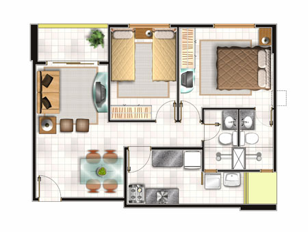 Projetos de casas pequenas e econ micas decorando casas for Decoracion casas pequenas economicas