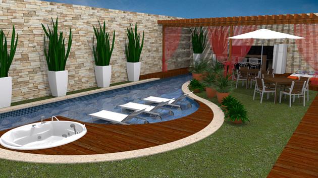 Projetos de piscinas em espa os pequenos decorando casas for Fotos decoracion piscinas modernas