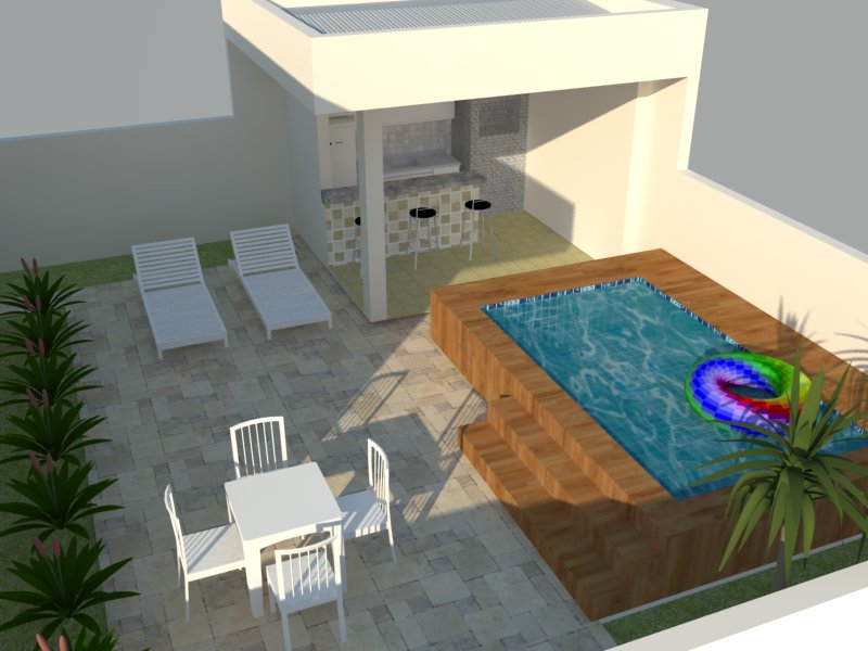 Preferência Projetos de área de lazer com churrasqueira e piscina   Decorando  EU88