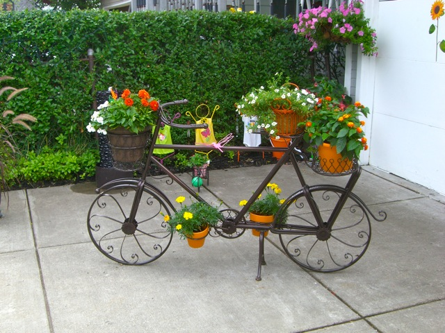 flores jardim pequeno:Bicycle Garden Decoration Ideas