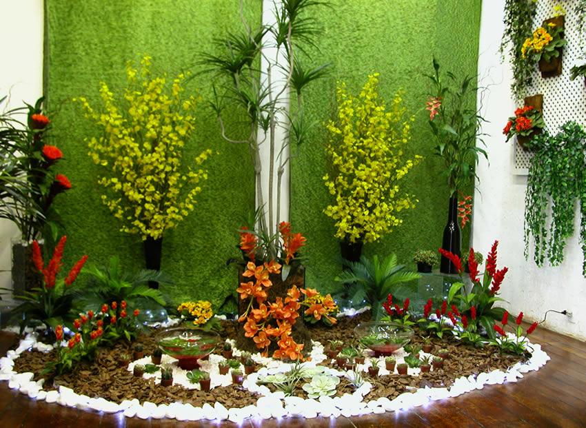 fotos de flores e plantas artificiais para jardim