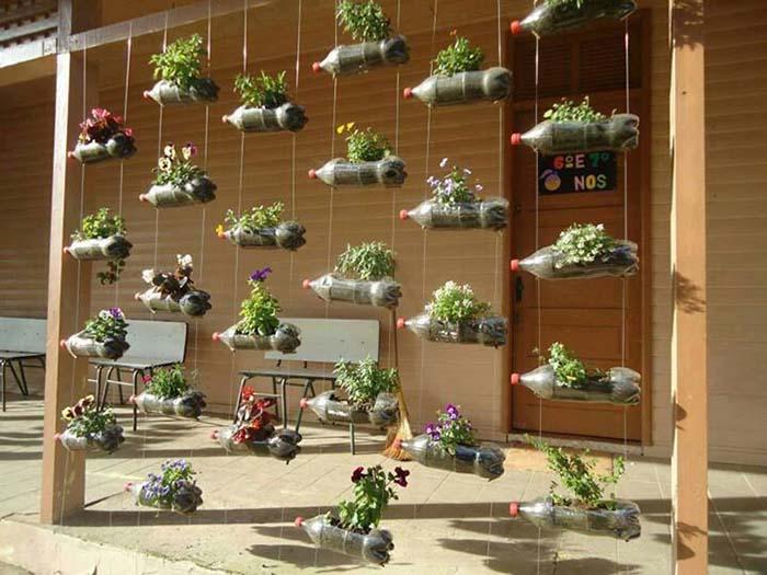 jardim vertical de garrafa pet passo a passo:Vertical Garden with Plastic Bottles