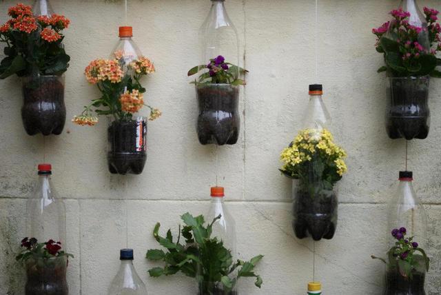 Jardim suspenso com garrafas pet passo a passo  Decorando Casas