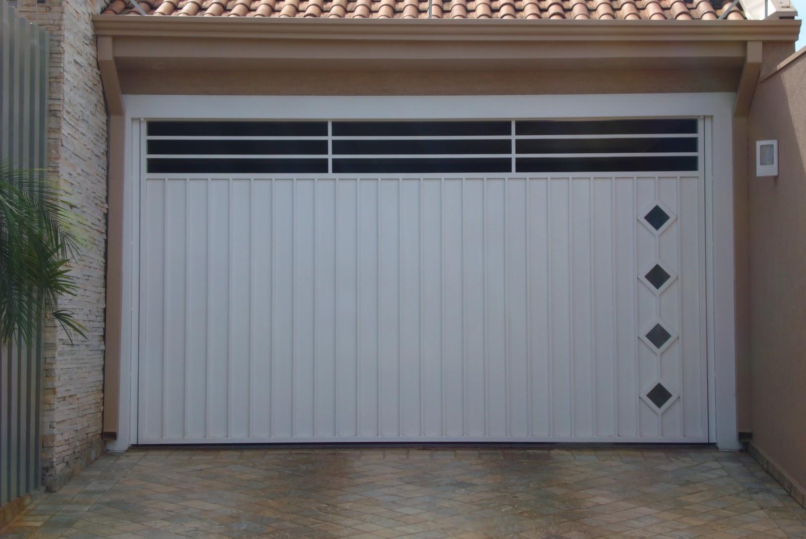 Super Modelos de portões para garagens residenciais | Decorando Casas JE27