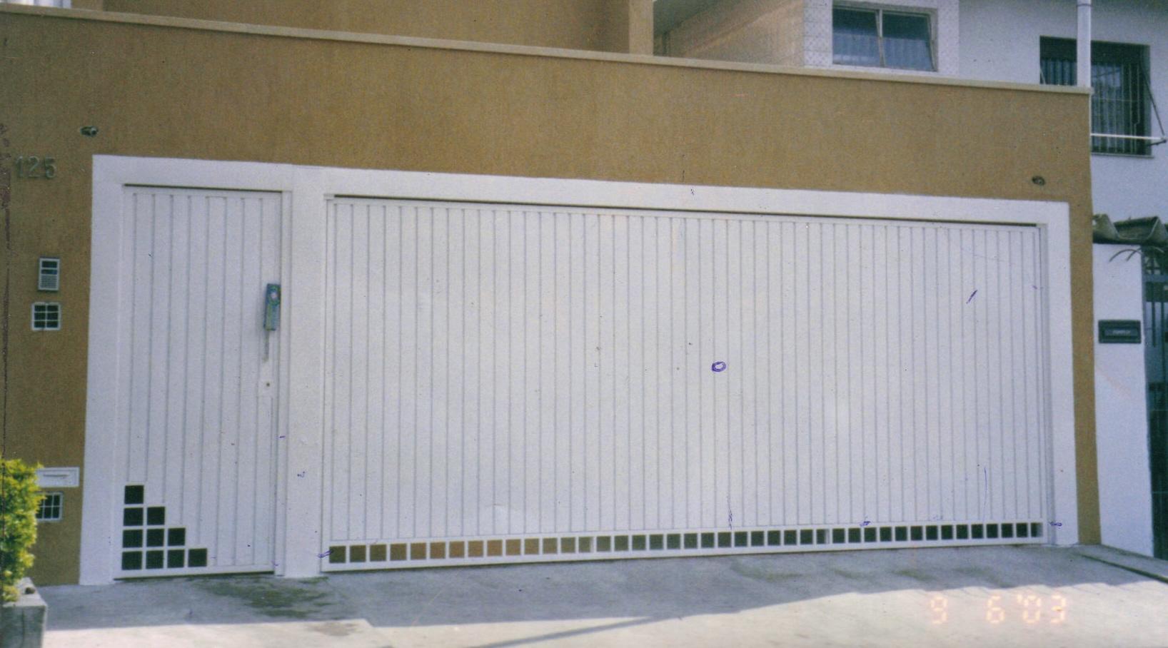 Super Modelos de portões para garagens residenciais | Decorando Casas HJ45