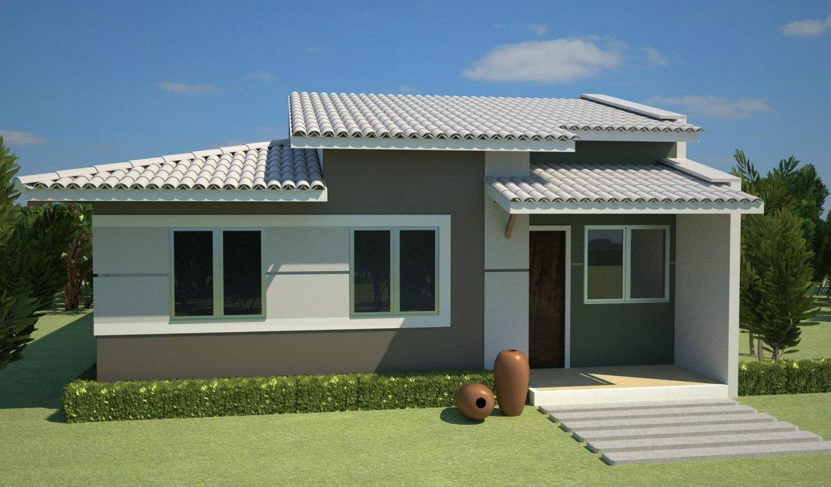 Pinturas externas de casas simples e pequenas decorando for Disenos de casas pequenas para construir