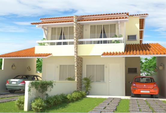 Pinturas externas de casas simples e pequenas decorando for Casas duplex modernas
