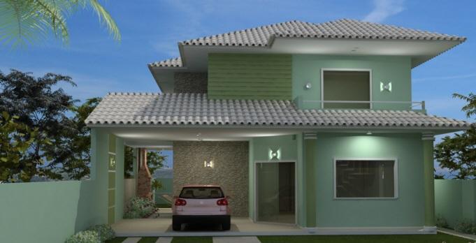 Pinturas externas de casas simples e pequenas decorando for Pintura casa exterior 2017