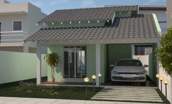 Pinturas externas de casas simples e pequenas decorando for Planos para casas pequenas