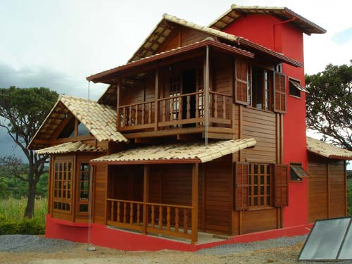 Pinturas de casas madeira - Pinturas modernas para casas ...