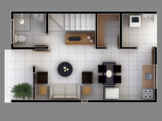 Plantas de casas duplex simples e pequenas decorando casas - Plantas pequenas de interior ...