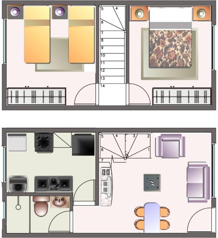 Plantas de casas duplex simples e pequenas decorando casas for Diseno apartamentos duplex pequenos