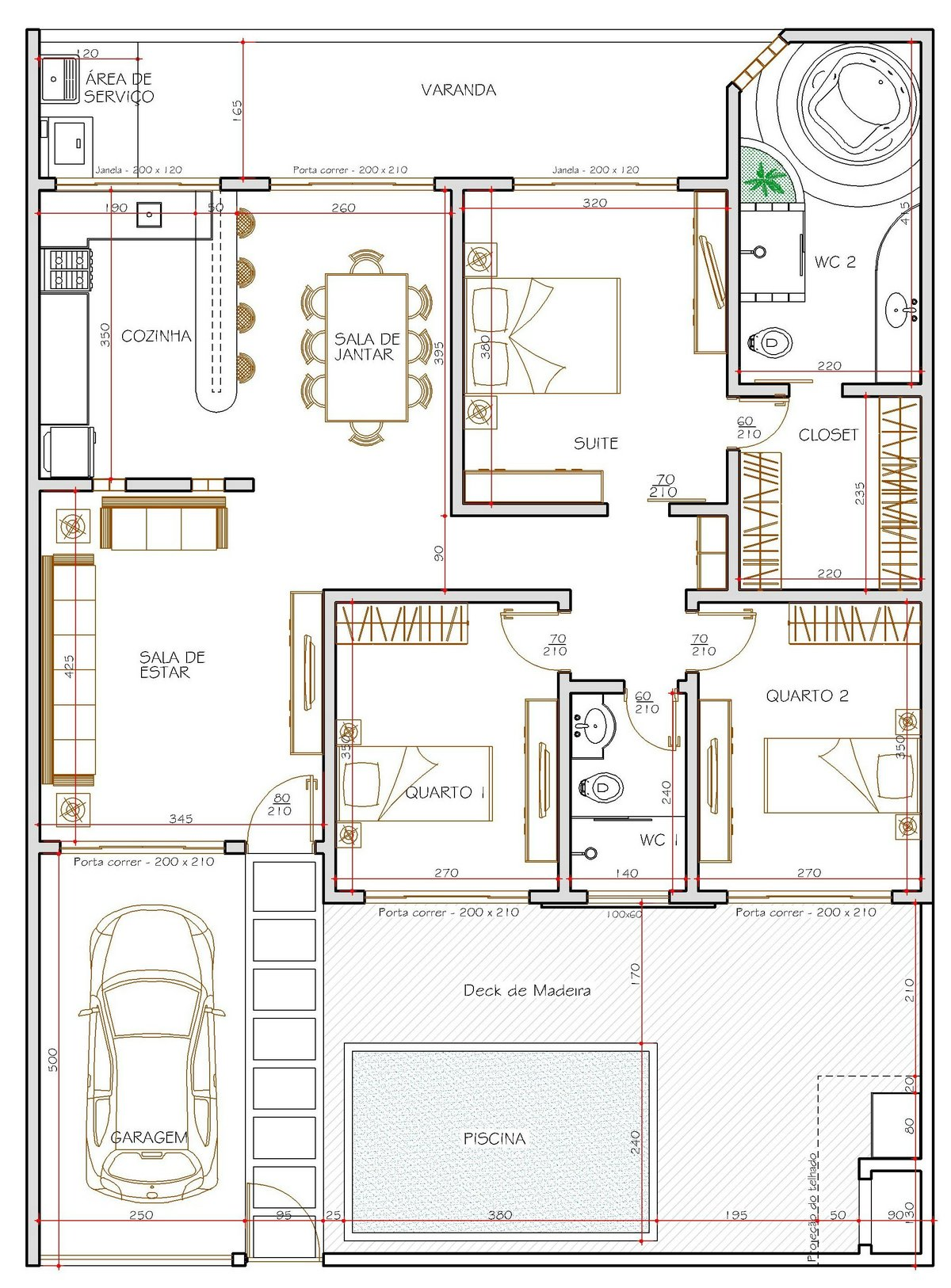 Plantas de casas térreas com 3 quartos Decorando Casas #933938 1200 1626